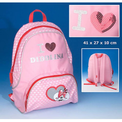 Diddlina Rucksack Hearts rosa